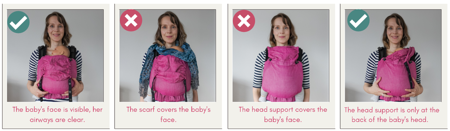 Babywearing safety TICKS rule - In view at all times